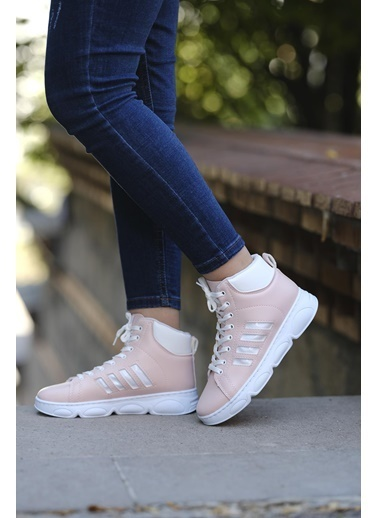 Oksit Eline Konçlu Kadın Sneaker Pudra